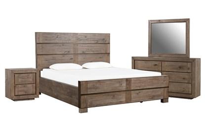 Lassen Queen Panel 4 Piece Bedroom Set