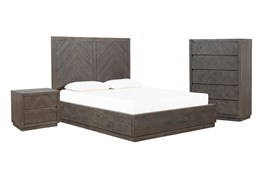 Harrison Charcoal Queen Platform 3 Piece Bedroom Set