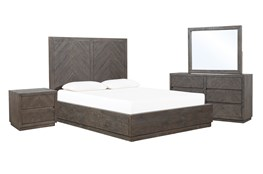 Harrison Charcoal Eastern King Platform 4 Piece Bedroom Set