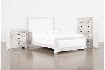 Sinclair Pebble Eastern King Panel 3 Piece Bedroom Set