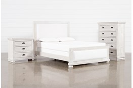 Sinclair Pebble California King Panel 3 Piece Bedroom Set