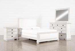 Sinclair Pebble Queen Panel 4 Piece Bedroom Set