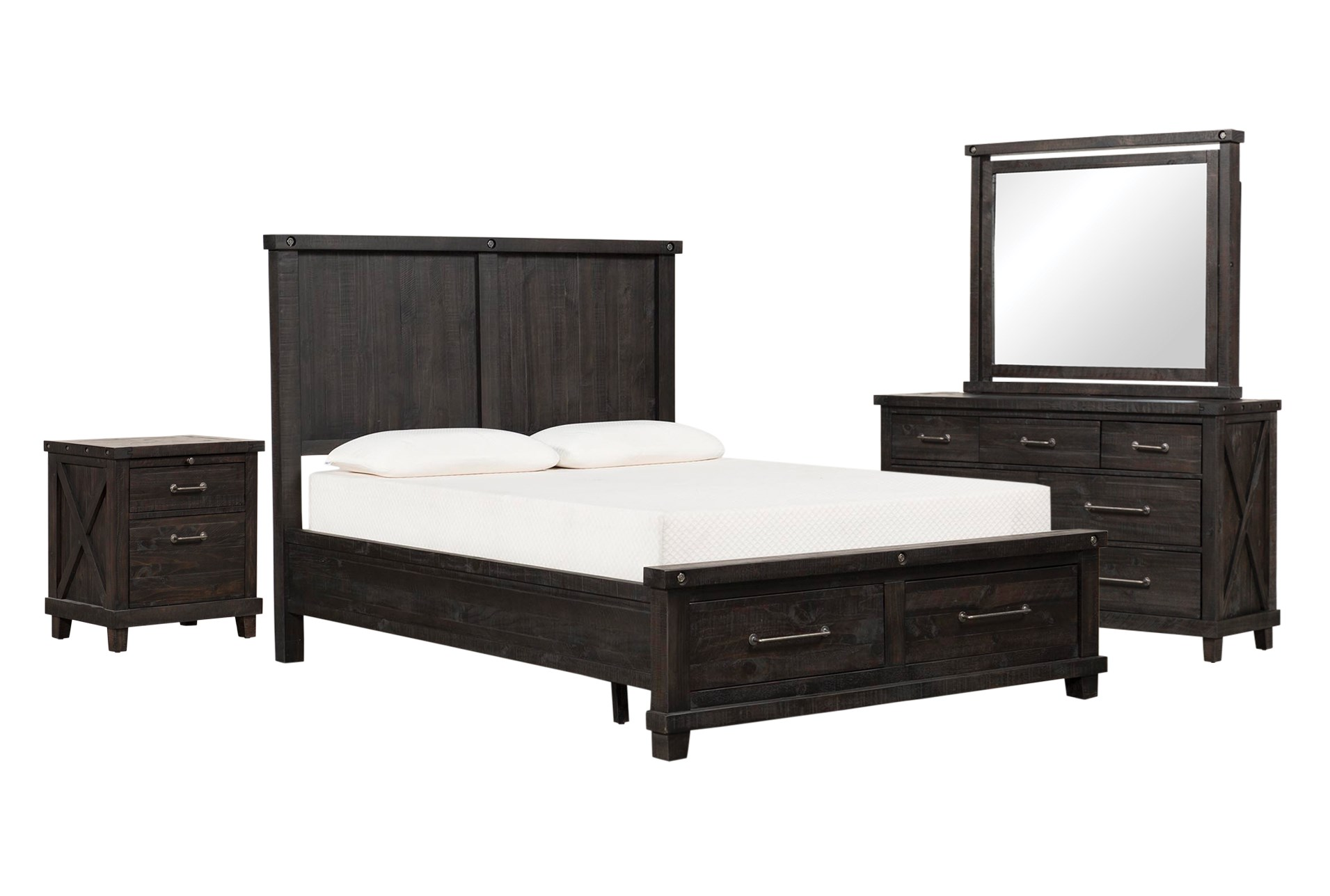 Jaxon Eastern King Storage 4 Piece Bedroom Set