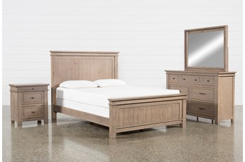 Coleman California King Panel 4 Piece Bedroom Set
