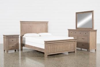 Coleman California King Panel 4 Piece Bedroom Set