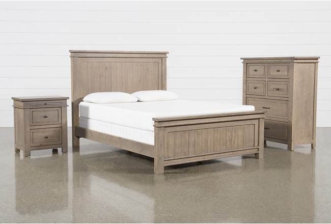 Coleman Eastern King Panel 3 Piece Bedroom Set - 360