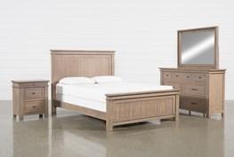 Coleman Eastern King Panel 4 Piece Bedroom Set