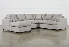 Kerri Cement 2 Piece Sectional With Left Arm Facing Sofa Chaise