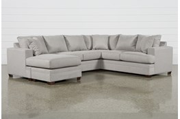 "Kerri Cement 2 Piece 126"" Sectional With Left Arm Facing Sofa Chaise"