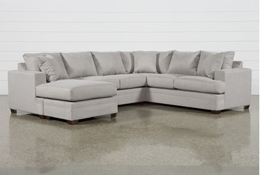 """Kerri Cement 2 Piece 126"""" Sectional With Left Arm Facing Sofa Chaise"""
