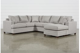 "Kerri Cement 2 Piece 126"" Sectional With Right Arm Facing Sofa Chaise"