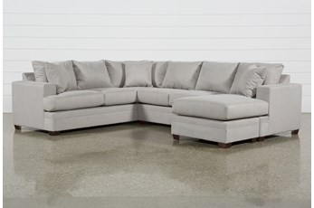 Kerri Cement 2 Piece Sectional With Right Arm Facing Sofa Chaise