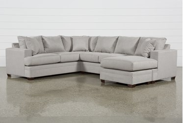 """Kerri Cement 2 Piece 126"""" Sectional With Right Arm Facing Sofa Chaise"""
