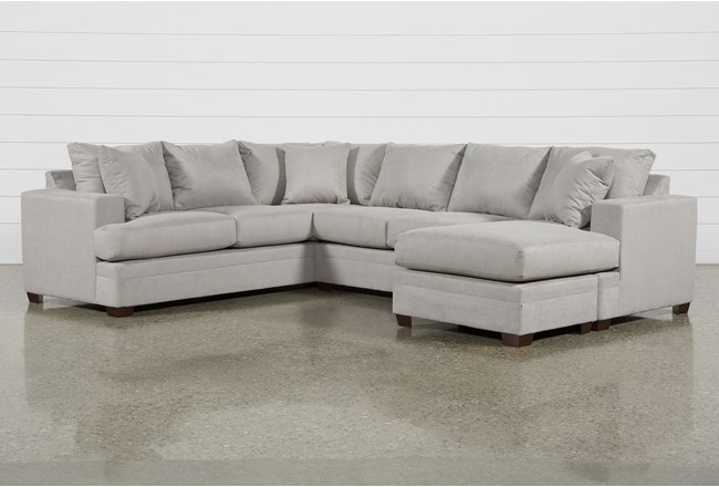 Kerri Cement 2 Piece Sectional With Right Arm Facing Sofa Chaise - 360