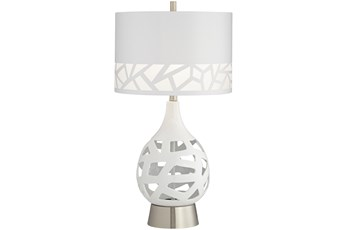 Table Lamp-White Laser Cut