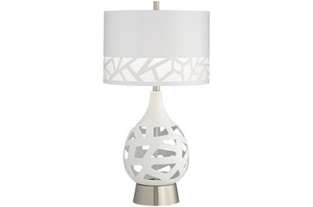 Table Lamp-White Laser Cut