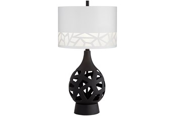 Table Lamp-Black Laser Cut