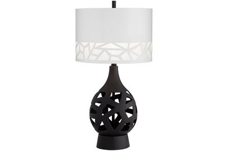 Table Lamp-Black Laser Cut