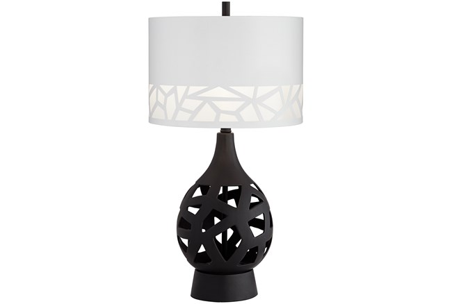Table Lamp-Black Laser Cut  - 360