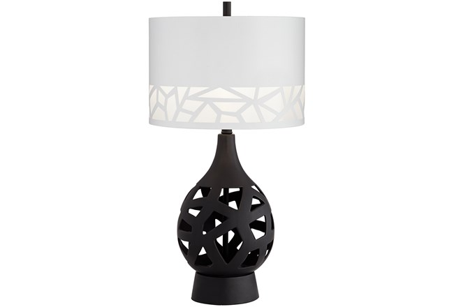 Table Lamp-Black Laser Cut  - 360