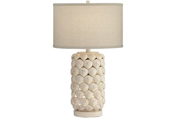 Table Lamp-White Shell