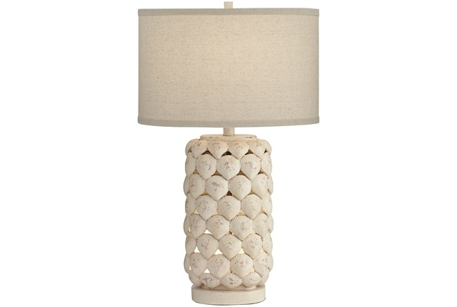 Table Lamp-White Shell  - 360