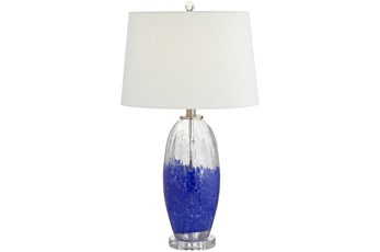 Table Lamp-Dipped In Blue