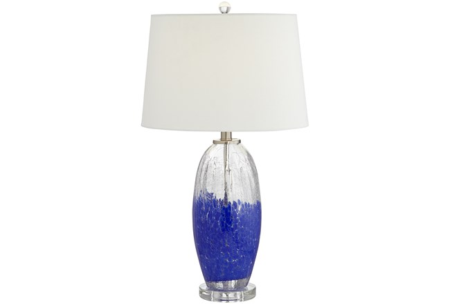Table Lamp-Dipped In Blue  - 360