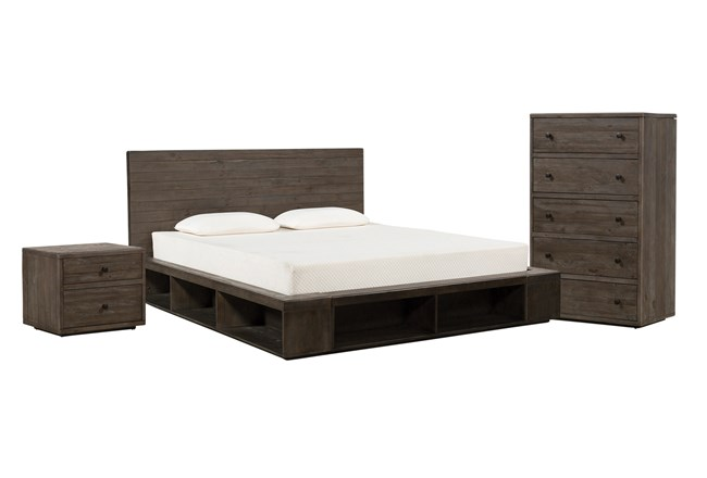 Dylan Queen Platform 3 Piece Bedroom Set - 360