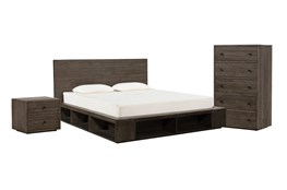 Dylan California King Platform 3 Piece Bedroom Set
