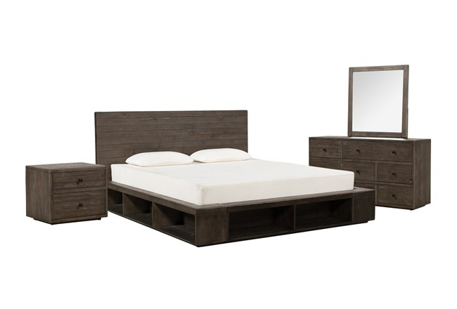 Dylan California King Platform 4 Piece Bedroom Set - 360