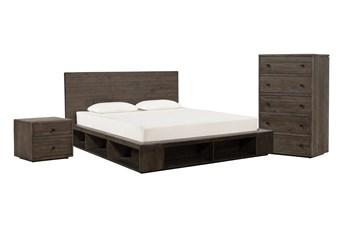 Dylan Eastern King Platform 3 Piece Bedroom Set