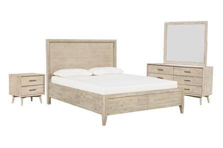 Allen Queen Storage 4 Piece Bedroom Set