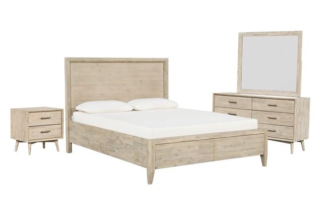 Allen California King Storage 4 Piece Bedroom Set - 360