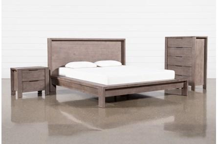 Regan Queen Platform 3 Piece Bedroom Set