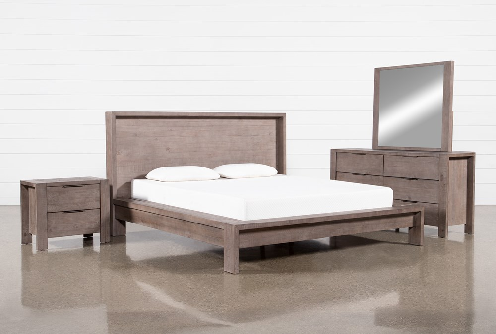 Regan California King Platform 4 Piece Bedroom Set