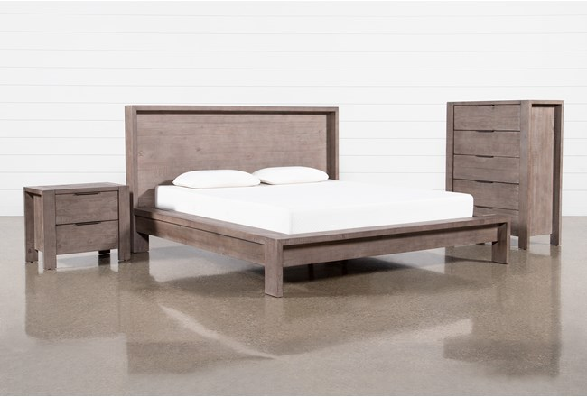 Regan Eastern King Platform 3 Piece Bedroom Set - 360