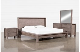 Regan Eastern King Platform 4 Piece Bedroom Set