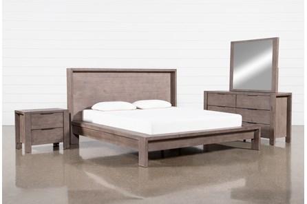 Regan Eastern King Platform 4 Piece Bedroom Set