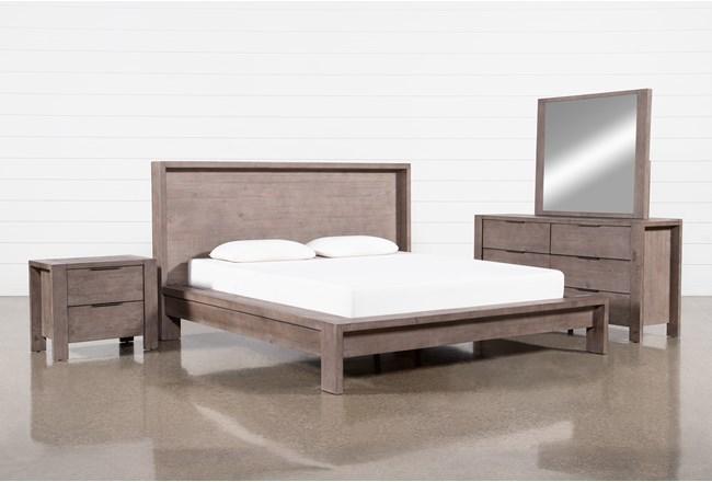 Regan Eastern King Platform 4 Piece Bedroom Set - 360