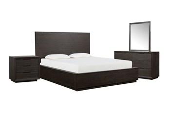 Pierce Espresso Queen Panel 4 Piece Bedroom Set