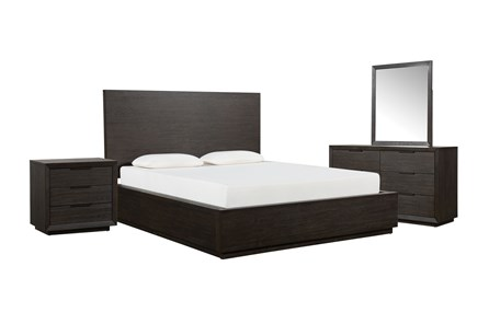 Pierce Queen Panel 4 Piece Bedroom Set