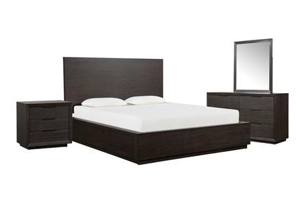Pierce Espresso Queen Panel 4 Piece Bedroom Set - Main