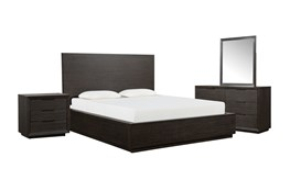 Pierce Eastern King Panel 4 Piece Bedroom Set