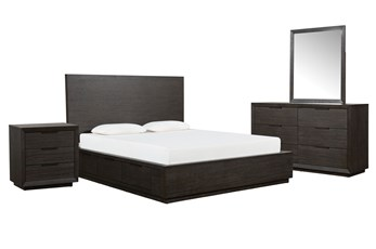 Pierce Espresso California King Storage 4 Piece Bedroom Set