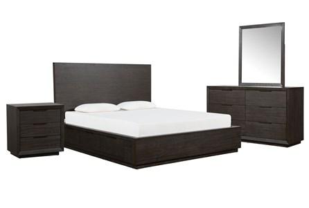 Pierce Espresso California King Storage 4 Piece Bedroom Set - Main