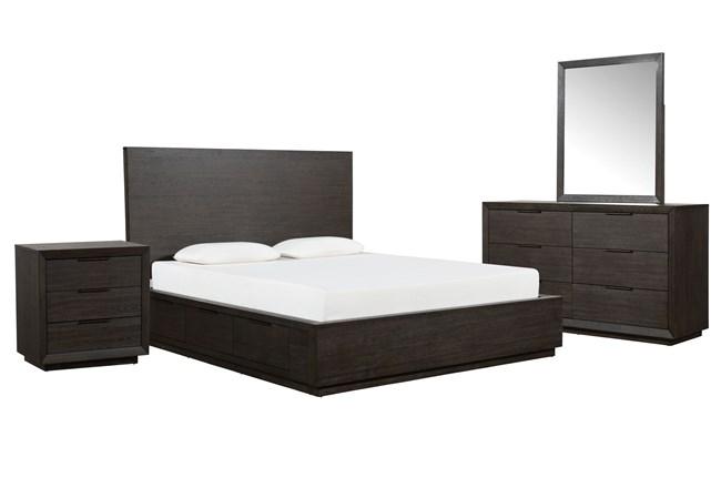 Pierce California King Storage 4 Piece Bedroom Set - 360