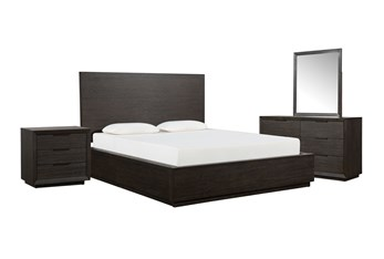 Pierce Espresso California King Panel 4 Piece Bedroom Set