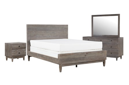 Ashton Queen Platform 4 Piece Bedroom Set - Main