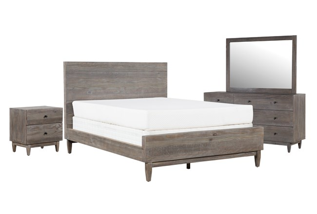 Ashton Queen Platform 4 Piece Bedroom Set - 360